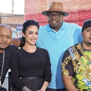 Curtis Smith, Lena Piccininni, Cedric The Entertainer and Rich The Barber (from left)