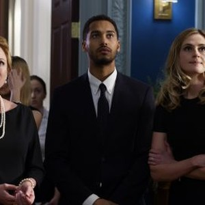Virginia Madsen, Elliot Knight and Megan Ketch (from left)