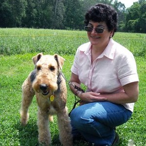 Linda Pickreign with dog Miss Lily