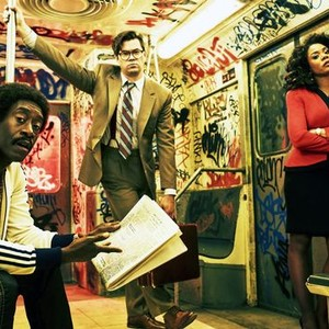 Don Cheadle, Andrew Rannells and Regina Hall (from left)