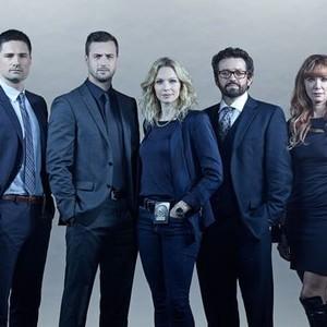 Warren Christie, Brendan Penny, Kristin Lehman, Louis Ferreira and Lauren Holly (from left)
