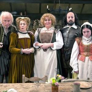HARRY ENFIELD, PAULA WILCOX, LIZA TARBUCK, DAVID MITCHELL and HELEN MONKS (from left)