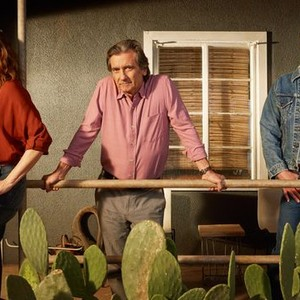 Kathryn Hahn, Griffin Dunne, and Kevin Bacon (from left)