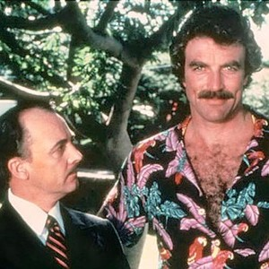 John Hillerman (left) and Tom Selleck