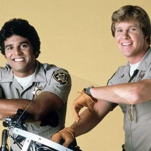 Erik Estrada (left) and Larry Wilcox
