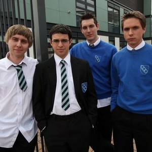 James Buckley, Simon Bird, Blake Harrison and Joe Thomas (from left)