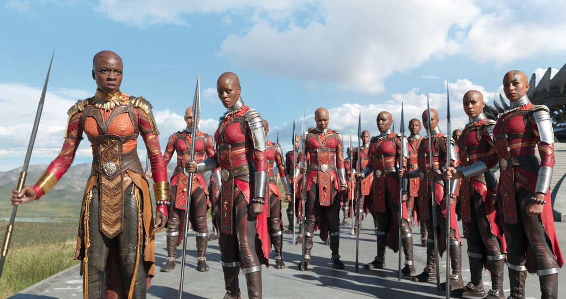 Dora Milaje, pasukan perempuan khusus di negara fiksi Wakanda di Afrika.