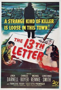 The 13th Letter 1951 Rotten Tomatoes