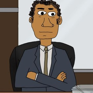The Boss is voiced by Peter Giles