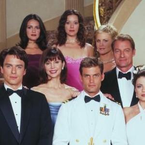 John Barrowman, Victoria Principal, Elizabeth Bogush, Josie Davis, Perry King, Yasmine Bleeth and Casper Van Dien (clockwise from left)