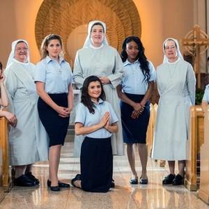 Christie Young, Sister Florine Licavoli, Stacey Jackson, Francesca DiPaola, Sister Beth Ann Dillon, Eseni Ellington, Sister Caryn M. Haas, and Claire Halbur (from left)