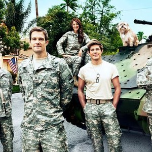 Parker Young; Angelique Cabral; Geoff Stults; Chris Lowell and Keith David (from left)