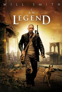 Movie poster for I Am Legend featuring Will Smith