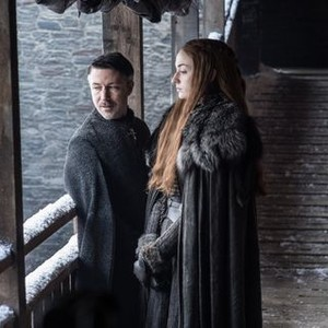"Aidan Gillen as Petyr ""Littlefinger"" Baelish and Sophie Turner as Sansa Stark (Helen Sloan/HBO)"