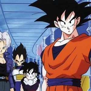 Trunks, Vegeta, Gohan and Goku (from left)