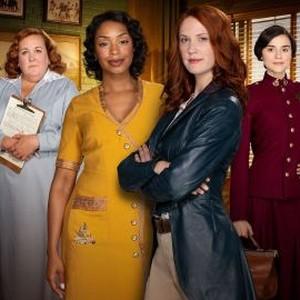 Sharron Matthews, Chantel Riley, Lauren Lee Smith and Rebecca Liddiard (from left)