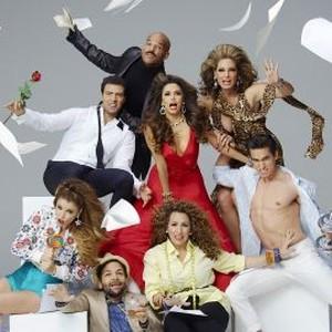 Jadyn Douglas, Jencarlos Canela, Amaury Nolasco, Izzy Diaz, Eva Longoria, Diana Maria Riva, Alex Meneses and Jose Moreno Brooks (from left)
