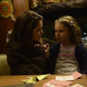 Orphan Black: Season 2, Episode 4, Sarah (Tatiana Maslany) and Kira (Skyer Wexler)