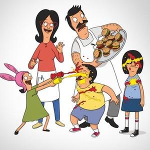 Louise Belcher, Linda Belcher, Bob Belcher, Gene Belcher and Tina Belcher (from left)
