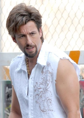 """Adam Sandler On Location for """"You Don't Mess with the Zohan"""" - August 3, 2007"""