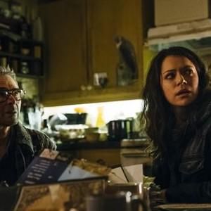 Orphan Black, Season 2, Episode 6, Ethan (Andrew Gillies) and Sarah (Tatiana Maslany)