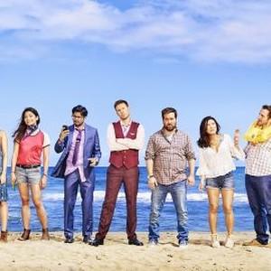 Brooke Dillman, Jessica Lowe, Ginger Gonzaga, Asif Ali, Zach Cregger, Brian Sacca, Ally Maki, Zach Cregger and Rhys Darby (from left)