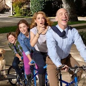 Eli Baker, Ava Deluca-Verley, Jenna Elfman and J.K. Simmons (from left)