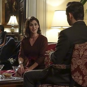 Masters of Sex (season 2, episode 2): Lizzy Caplan as Virginia Johnson and Michael Sheen as Dr. William Masters