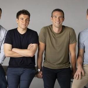 Dan Pfeiffer, Jon Lovett, Jon Favreau and Tommy Vietor (from left)