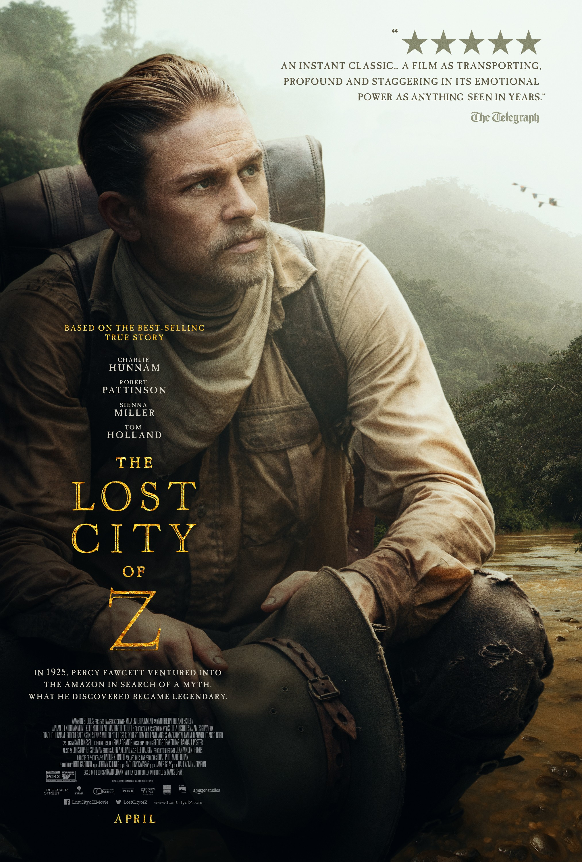 The Lost City Of Z 2016 Rotten Tomatoes