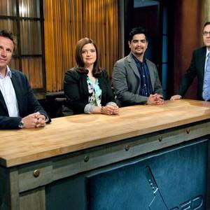 Marc Murphy, Alex Guarnaschelli, Aarón Sanchez and Ted Allen (from left)