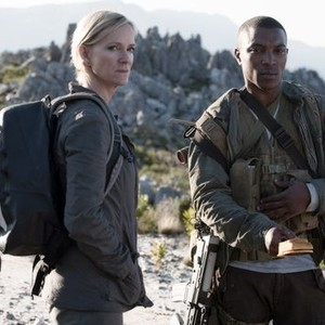 Hermione Norris (left) and Ashley Walters
