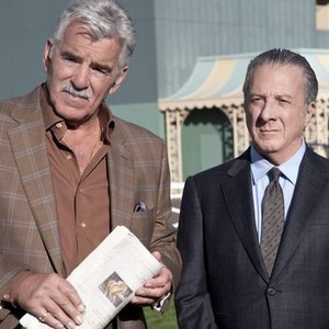 Dennis Farina (left) and Dustin Hoffman