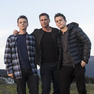 John Owen Lowe, Rob Lowe and Matthew Lowe (from left)