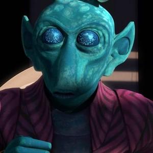 Onaconda Farr is voiced by Dee Bradley Baker