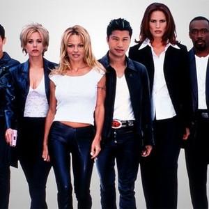 Natalie Raitano, Leah Lail, Pamela Anderson, Dustin Nguyen, Molly Culver and Shaun Baker (from left)