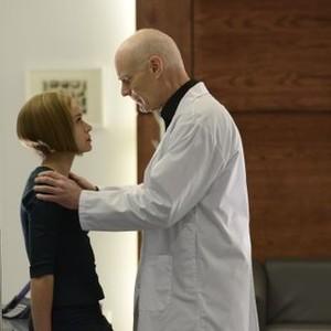 Orphan Black: Season 2, Episode 7, Rachel (Tatiana Maslany) and Dr. Leekie (Matt Frewer)