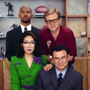 Michael Boatman, Jim Turner, Robert Wuhl and Sandra Oh (clockwise, from top left)