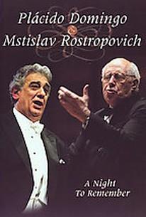 Placido Domingo & Mstislav Rostropovich - A Night to Remember