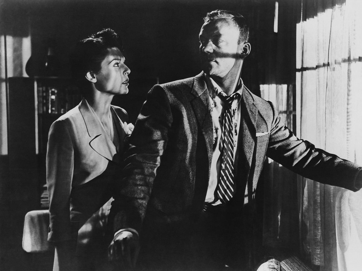 Image result for nightfall 1957 laura makes fraser a drink