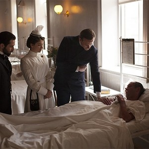 Michael Angarano, Eve Hewson, Eric Johnson, and Louis Butelli in season one of <em>The Knick</em>.
