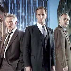 Phil Davis, Rupert Penry-Jones and Steve Pemberton (from left)