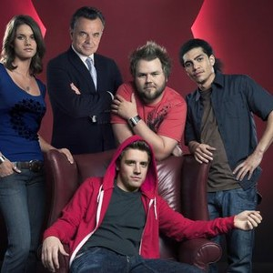 Missy Peregrym, Ray Wise, Tyler Labine, Rick Gonzalez and Bret Harrison (clockwise from top left)