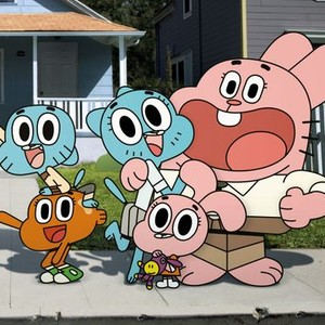 Gumball Watterson, Nicole Watterson, Richard Watterson (back row, from left); Darwin Watterson (left) and Anais Watterson (from row)