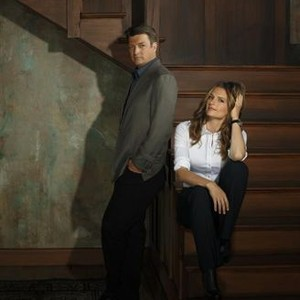 Castle, Season 7: Nathan Fillion as Richard Castle and Stana Katic as NYPD Detective Kate Beckett