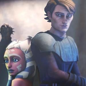 Ahsoka Tano (left) and Anakin Skywalker