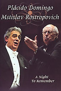 Placido Domingo & Mstislav Rostropovich - A Night to Remember