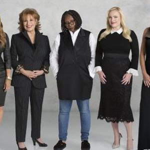 Sunny Hostin, Joy Behar, Whoopi Goldberg, Meghan McCain and Abby Huntsman (from left)