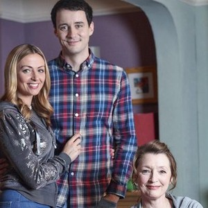Lisa McGrillis, Sam Swainsbury and Lesley Manville (from left)