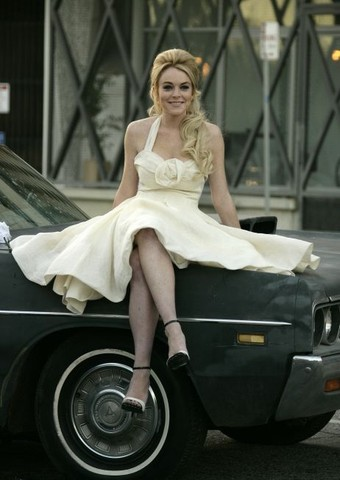 Lindsay Lohan Sighting in MacArthur Park, Los Angeles